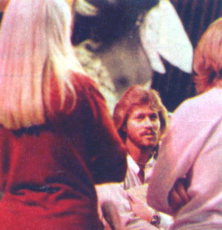 Barry Gibb chats with Agnetha and Bjorn