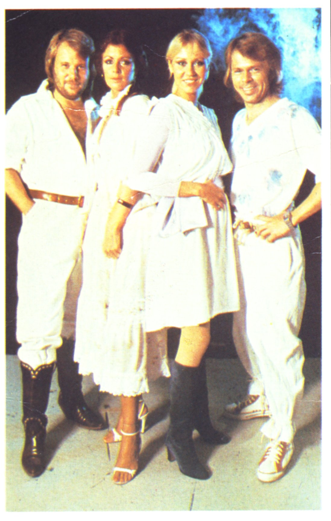 abba confectionary picture card (Barratts Compa