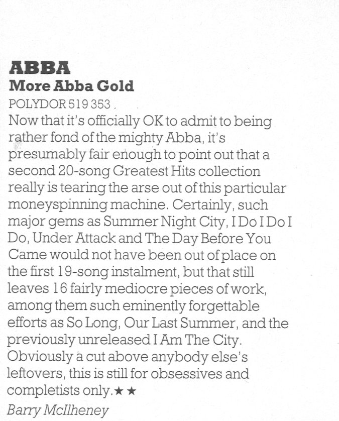 ABBA More Gold Q review