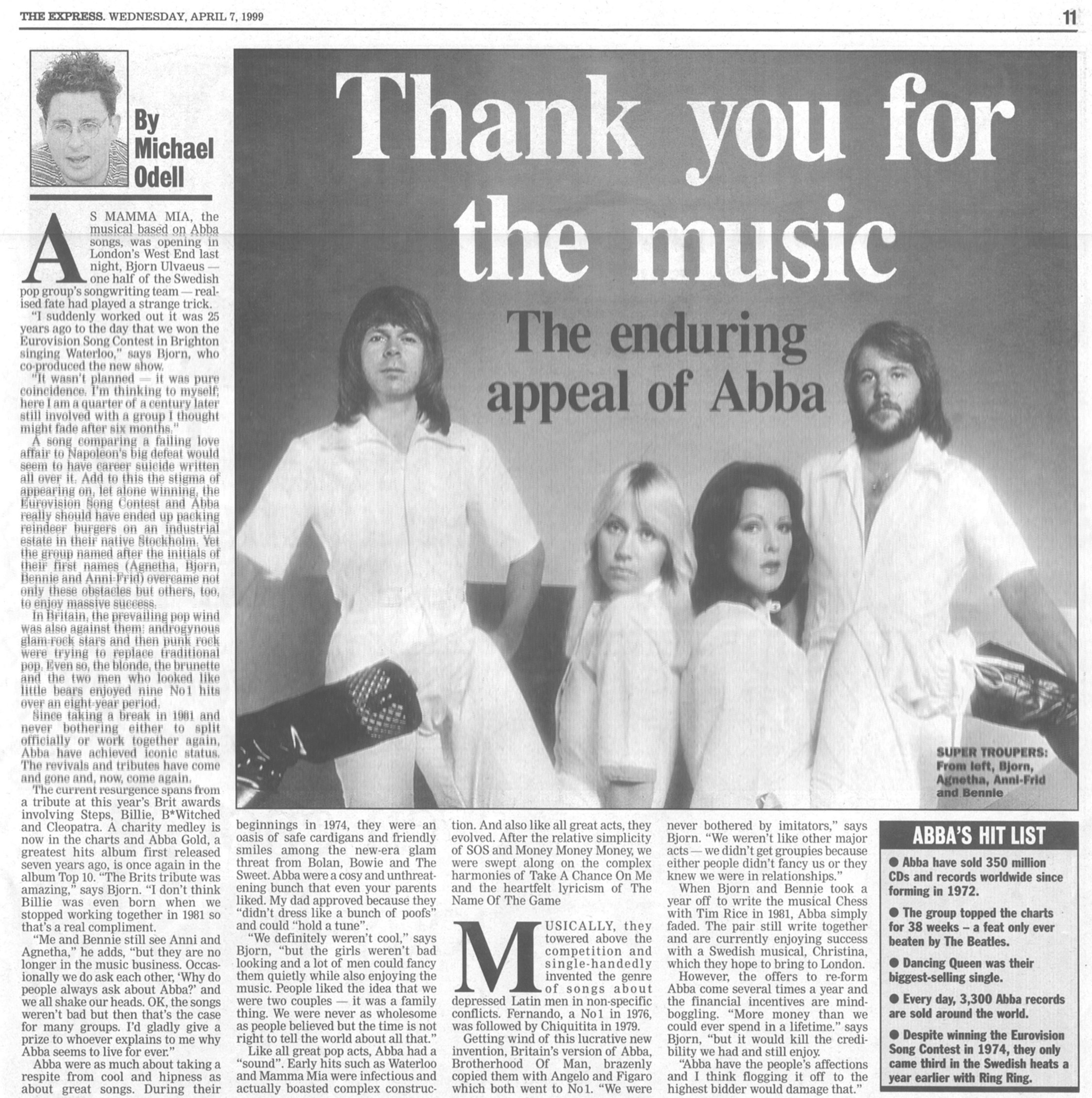 The Express ABBA 7-4-99