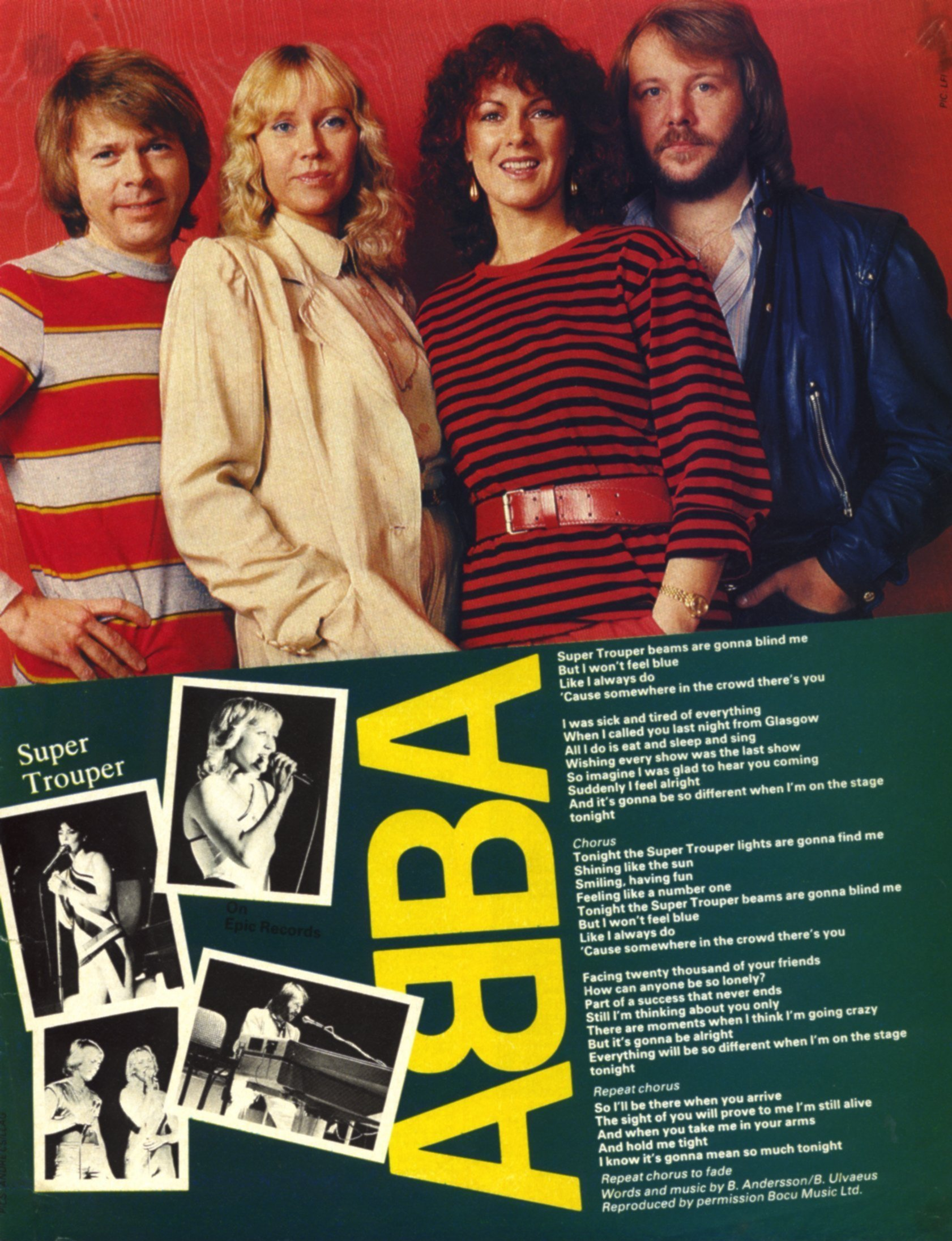 abba super trouper lyrics and picture mag unknown