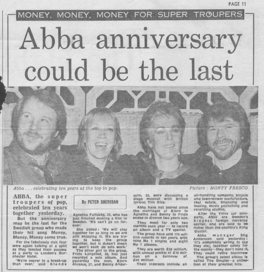 daily mail abba ten years