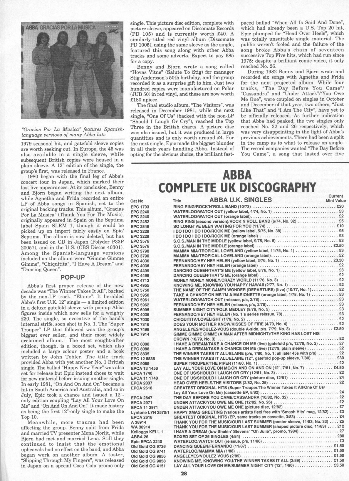 record collector mag august 1991 page five