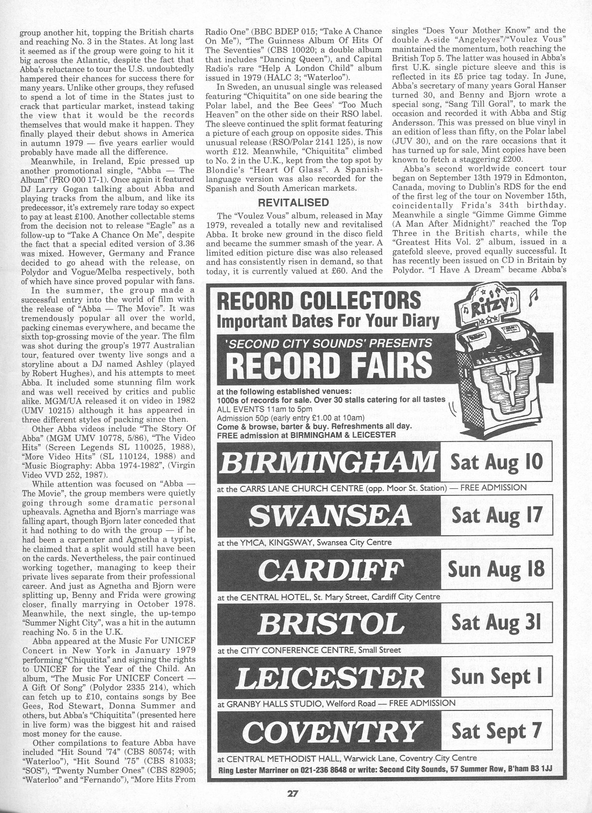 record collector mag august 1991 page four